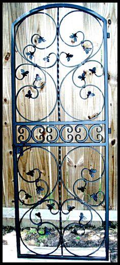 Leaved Scroll Iron Wine Cellar Door