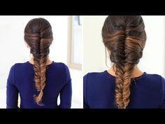 HOW TO: French Fishtail Braid Hair Tutorial   Luxy Hair - YouTube