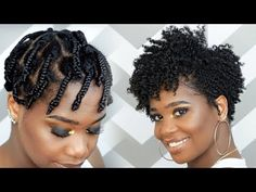 How To Do a Braid-Out on Tapered Natural Hair feat Camille Rose Naturals   MissKenK - YouTube
