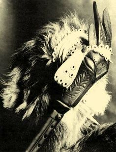 """Head of a bagpipe -   Kaposvár -   Hungarian name for the bagpipe: """"A musical instrument, used habitually by the herdsmen, commonly called tömlősíp (bagpipe)."""""""