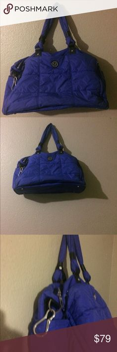 See more. Lululemon large gym bag Oversized blue lululemon gym bag in well  loved condition. Small holes 7b491e9a27c25