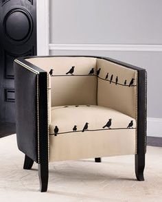 """Birds on a wire"" chair"
