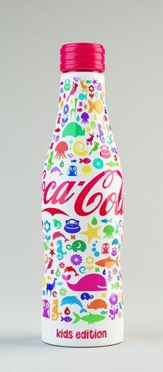Shamil Ramazanov's colorful Coca Cola bottle design MANGATAYE Léa