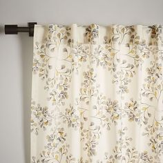 Cotton Canvas Vine Lattice Curtain - Horseradish | west elm