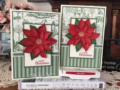 Poinsettia Cards, Christmas Poinsettia, Diy Christmas Cards, Stampin Up Christmas, Christmas In July, Xmas Cards, Christmas Ideas, Christmas Crafts, Greeting Cards