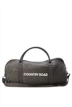 """Country Road Weekend / Overnight Bag  (""""Raw Denim Tote Bag"""") $79 at Country Road - Albany, Takapuna, Queen Street, Newmarket, Onehunga, Botany, Sylvia Park, Chartwell, Wellington"""