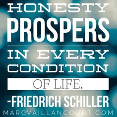A quote on honesty as featured on MarcVaillancourt.com's #MondayMorningInspiration