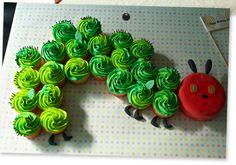caterpillar cupcake cake!