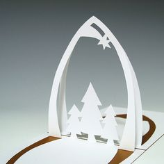 Gorgeous Christmas pop-up card