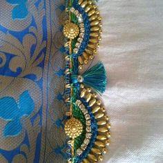 S Saree Tassels Designs, Saree Kuchu Designs, Silk Saree Blouse Designs, Beaded Embroidery, Embroidery Designs, Saree Accessories, Hand Work Blouse Design, Designer Blouse Patterns, Lesage