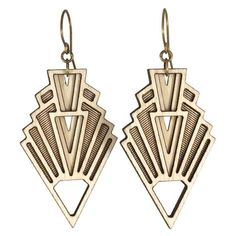 Art Deco earrings, inspired by the 1920s. Pair these architectural earrings with a little black dress and killer booties for a modern date night look!