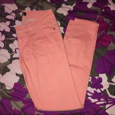 Pink/salmon color skinny jeans Worn a few times. Still in perfect condition. I really love these but they're too small for me now Forever 21 Jeans