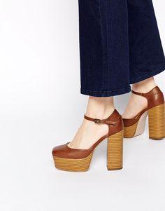 Bild 1 von ASOS – PATCH IT UP – Plateau-Schuhe im Stil der 70er