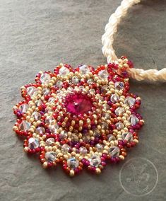 Beaded Pendant Tutorial Lacy Medallion by VCArtisanOriginals