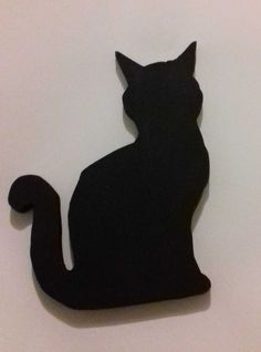 Black Cat Mdf Acryic Paint Scroll Saw Practice