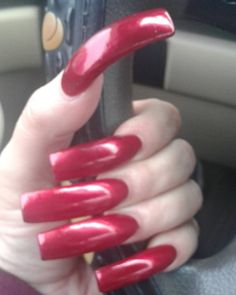 Image may contain: one or more people and closeup Long Red Nails, Wide Nails, Long Fingernails, Long Acrylic Nails, Perfect Nails, Gorgeous Nails, Pretty Nails, Sexy Nails, Hot Nails