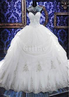 Robe de mariée taille basque soldes d'hiver strass