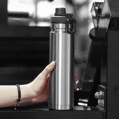 750ml large capacity stainless steel thermos portable vacuum with rope – Creationsg Portable Vacuum, Stainless Steel Thermos, Vacuum Flask, Vacuums, Water Bottle, Vacuum Cleaners, Water Bottles