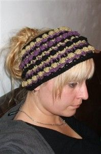 Hipster style headband/ear warmer. Too cute! 10 Free Patterns for Crochet Ear Warmers