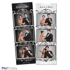 Elegant, chic, classy photo booth photo strip design for weddings with a silver frame Photo Booth Design, Event Photo Booth, Diy Photo Booth, Wedding Photo Booth, Wedding Photos, Photo Booths, Rustic Wedding Backdrop Reception, Wedding Ceremony Signs, Photobooth Layout