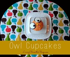 Owl Cupcakes (These are so easy to make) #Cupcakes