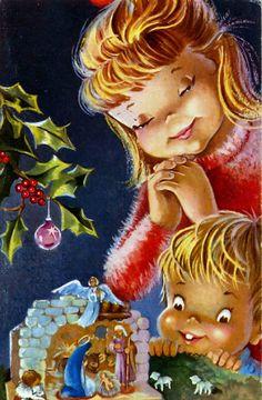 Pesebres ilustraciones navidad