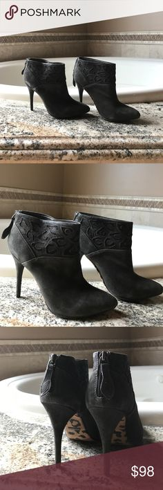 "Rebecca Taylor Booties by Rebecca Taylor. Gray suede, zip back,  4 1/4"" heel height, wore once for an hour or two with the RONEN CHEN dress. Rebecca Taylor Shoes Ankle Boots & Booties"