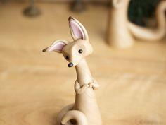 Fennec Fox Sculpture by Bonjour Poupette by BonjourPoupette on Etsy https://www.etsy.com/listing/83021753/fennec-fox-sculpture-by-bonjour-poupette