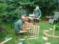 Pallet Picket Fence - Permaculture House In Totnes