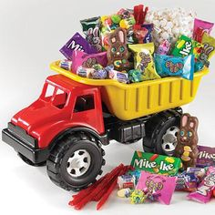 Great Easter gift or for a Construction birthday Party.....Gift Idea: Big Truck Of Treats - Candy Store