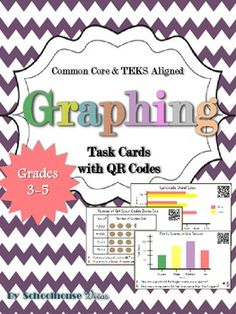 20 reading & interpreting graphs (40 problems) and data task cards + 2 quick assessments. All task cards have a QR code for students to check the answers.   Cards include real-world application and require higher order thinking to solve.   Can be used for:  * Small groups * Centers * Extended Activity  * Enrichment * Intervention $