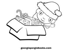 free printable picture colouring in picture the box of dreams book by georgie porgie