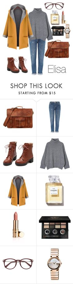 """54"" by eaesylisa ❤ liked on Polyvore featuring interior, interiors, interior design, home, home decor, interior decorating, Topshop, WithChic, Bobbi Brown Cosmetics and Gucci"