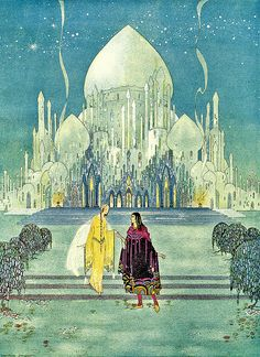 What a beautiful fairy tale! Illustration by Virginia Frances Sterrett.