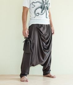 Drape Curtain Long Baggy Harem Pants with by AmazingThaiStore, $39.00