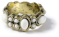#icing.com                #ring                     #Antique #Gold #with #Matte #Stone #Ovals #Circles #Ring #Icing               Antique Gold with Matte Stone Ovals and Circles Ring | Icing                                            http://www.seapai.com/product.aspx?PID=924664
