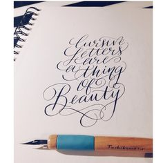 Cursive letters are a thing of beauty. #keepcursivealive @Alex Horta @calligritype #calligraphy #moderncalligraphy #pointedpen #copperplate #h...