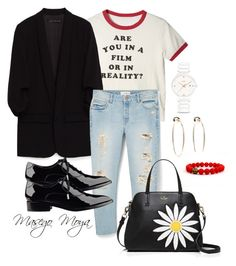 """Untitled #32"" by masego-moya on Polyvore featuring MANGO, Sigerson Morrison, Kate Spade, Bebe and Rado"