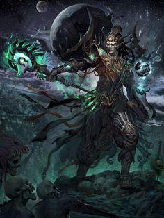 Sexy & Beautiful Art / Julio, Master Of Magic 2 Fantasy Male, Fantasy Warrior, Dark Fantasy Art, Fantasy Artwork, Fantasy Character Design, Character Art, Dark Warrior, Mtg Art, Warcraft Art
