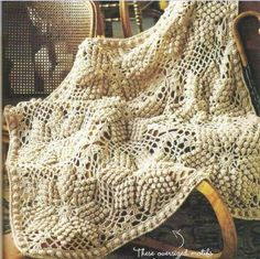 Crochet blanket pattern with bobbled star motif. Pattern: 1, 2 More Patterns Like This!