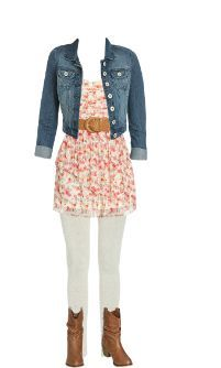 The top needs to be longer for a little girl, but this is a cute outfit for an elementary-middle school age!