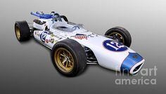 1965 Dean Van Lines Indy 500 Race Car Poster By Tad Gage