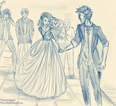 It took me a minute but I realized that this is James, Lily, and the rest of the Marauders at the Yule Ball