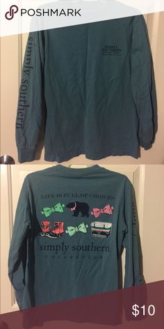 Simply southern long sleeve Never worn! Simply Southern Tops Tees - Long Sleeve