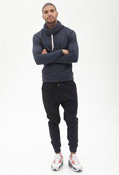 Cowl neck sweatshirt 21 men - 2000087232 street wear в 2019 Sport Style, Sport Chic, Guy Style, Sport Fashion, Look Fashion, Mens Fashion, Fashion Wear, Fitness Fashion, Street Fashion
