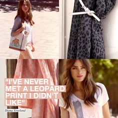 "Shop the style here -> mexx.eu  ""I'VE NEVER MET A LEOPARD PRINT I DIDN'T LIKE"" - DIANA VREELAND  #Mexx #SS13"