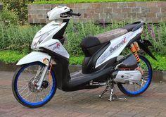 Part Modifikasi Motor Matic Honda Motors, Drag Bike, Honda Motorcycles, Kawasaki Ninja, Street Bikes, Lowrider, Beats, Racing, Vehicles