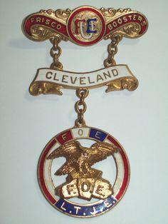 """Vintage F O E Fraternal Order of Eagles """"Frisco Boosters"""" Cleveland Medal   eBay"""
