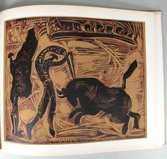 6 of 7 : Linogravures', Pablo Picasso, Editions Cercle D'Art Paris, Wilhelm Boeck, 1962 L6BBB8