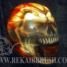 Rekairbrush Custom Airbrushed Motorcycle Helmet 469